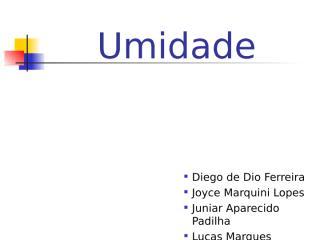 Umidade.pps