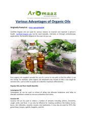Various Advantages of Organic Oils.pdf