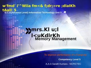 Memory Management sinhala v5.ppt